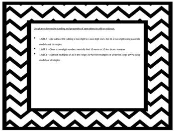 First Grade Math Task Cards - CCSS NBT