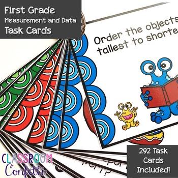 First Grade Math Task Cards Bundle {All Standards}