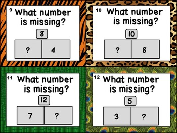 First Grade Math Task Cards (Jungle Theme) 2: Operations & Algebraic Thinking