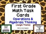 First Grade Math Task Cards (Jungle Theme) 2: Operations &