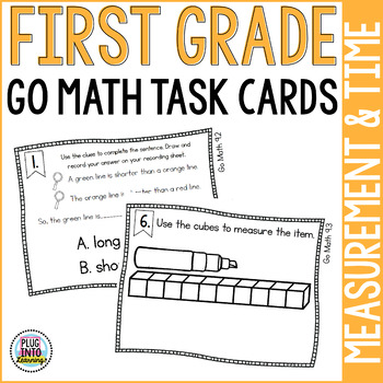 First Grade Math Task Cards: Measurement and Telling Time