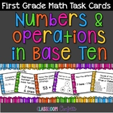 NBT First Grade Math Task Cards {Numbers and Operations in