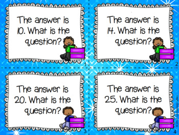 First Grade Math Task Cards - Open Ended Questions - Higher Order Thinking
