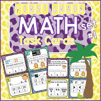 Math Task Cards - Addition,Subtraction,Place Value, Base Ten -Set #1