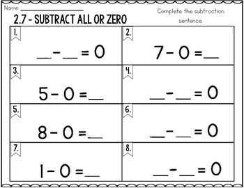 First Grade Math Task Cards: Subtraction Concepts