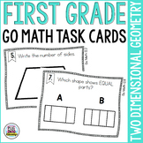 First Grade Math Task Cards: Two Dimensional Shapes