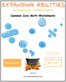 First Grade Math Bundle for Students with ADD/ADHD