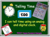 First Grade Math Telling Time to the Hour