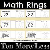 First Grade Math Ten More and Ten Less