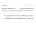 First Grade Math Test Prep - Beginning of the Year