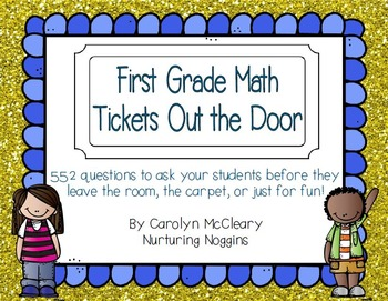First Grade Math Tickets Out the Door
