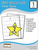 First Grade Math Time Tests