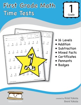 First Grade Math Time Tests