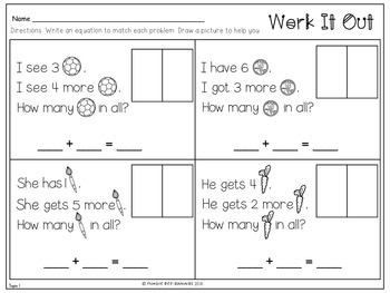 First Grade Math Topic 1, Solve Addition and Subtraction Problems to 10
