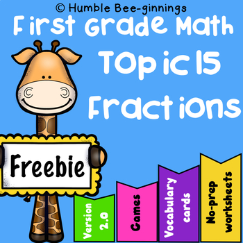 Fractions - First Grade Math - Topic 15