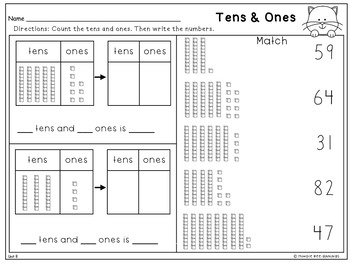 First Grade Math Topic 8: Tens and Ones - 2015 Version