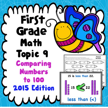 First Grade Math Topic 9: Comparing Numbers to 100- 2015 Version