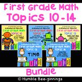 First Grade Math -  Topics 10 - 14 Bundle