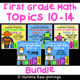 First Grade Math -  Topics 10 - 14 Bundle