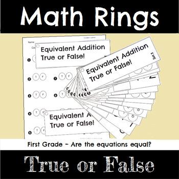 First Grade Math True or False Equations