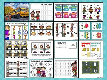 First Grade Math Tubs for the Entire Year BUNDLE- Aligned to Common Core
