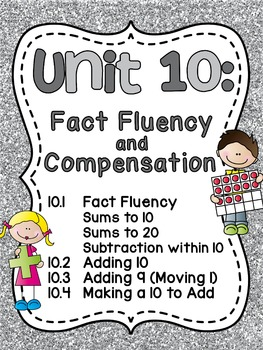 First Grade Math Unit 10 Fact Fluency (Great for distance learning!)