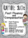 First Grade Math Unit 10 Fact Fluency (Great for distance