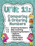 First Grade Math Unit 11 Comparing Numbers Skip Counting and Number Order