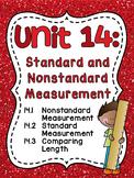 #ChristmasInJuly21 First Grade Math Unit 14 Standard & Nonstandard Measurement