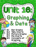 First Grade Math Unit 16 Graphing and Data Analysis Activities Worksheets Games