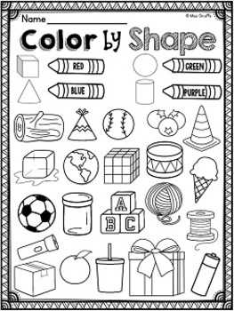 first grade math unit 17 geometry 2d and 3d shapes by miss. Black Bedroom Furniture Sets. Home Design Ideas