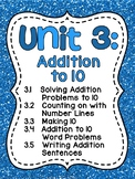 First Grade Math Unit 3 Addition to 10 (Fun Games, Worksheets, Activities!)