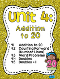 First Grade Math Unit 4 Addition to 20