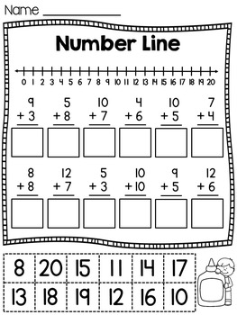 First Grade Math Unit 4 Addition to 20 by Miss Giraffe | TpT