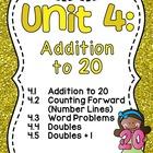 First Grade Math Unit 4 Addition to 20