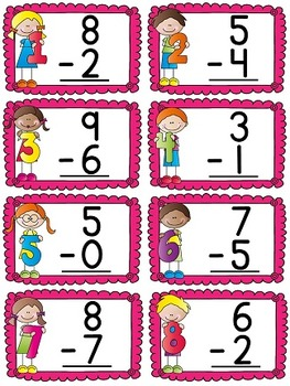 First Grade Math Unit 5 Subtraction (Great for Distance Learning too!)