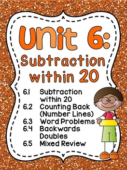 First Grade Math Unit 6 Subtraction within 20