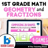 First Grade Math Unit 6: Geometry and Fractions (9 games)