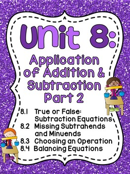 First Grade Math Unit 8