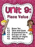 First Grade Math Unit 9 Place Value Worksheets, Games, and Activities Bundle
