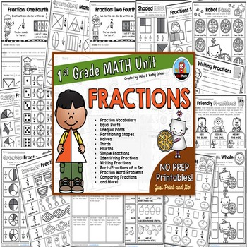 First Grade Math Unit {Fractions}