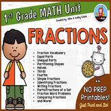 First Grade Math Unit {Fractions}