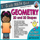 First Grade Math Unit {Geometry}