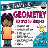 First Grade Math Unit {Geometry}