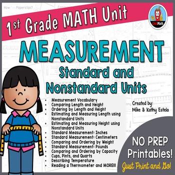 First Grade Math Unit {Measurement}