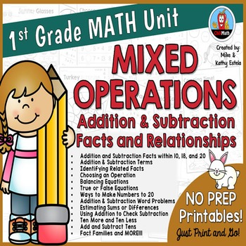 First Grade Math Unit {Mixed Operations - Addition and Subtraction}