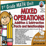 First Grade Math Unit {Mixed Operations - Addition and Sub
