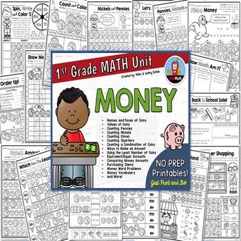 First Grade Math Unit {Money}