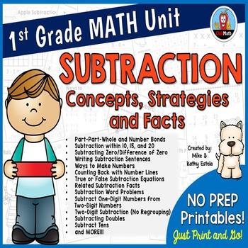 First Grade Math Unit {Subtraction}