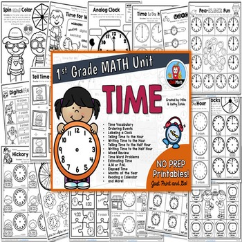 First Grade Math Unit {Time}